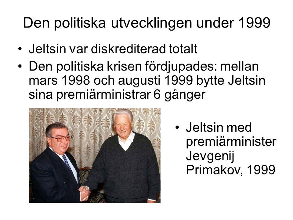 Den politiska utvecklingen under 1999