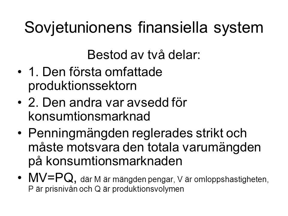 Sovjetunionens finansiella system