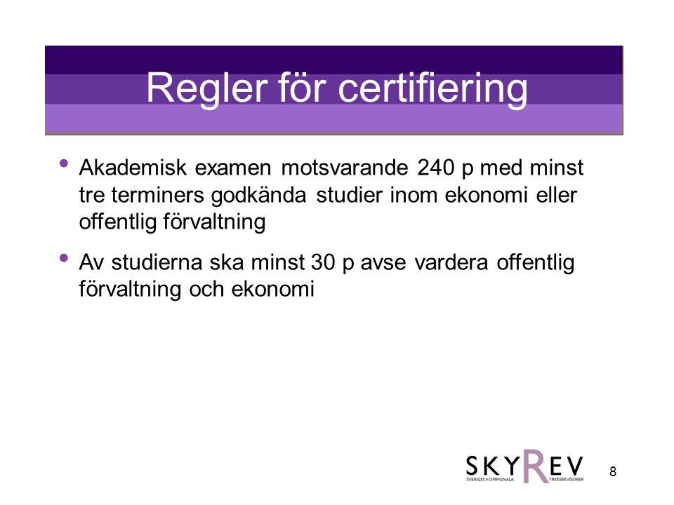 Regler för certifiering