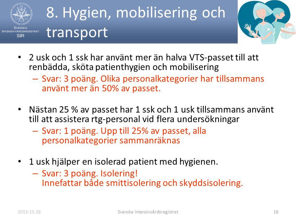 8. Hygien, mobilisering och transport