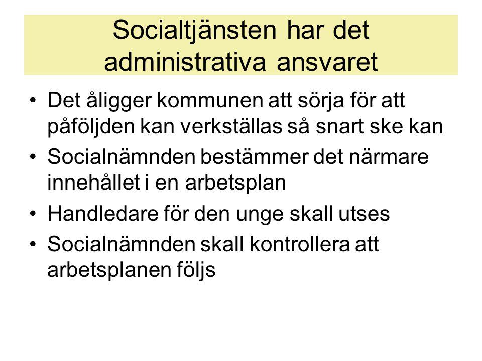 Socialtjänsten har det administrativa ansvaret
