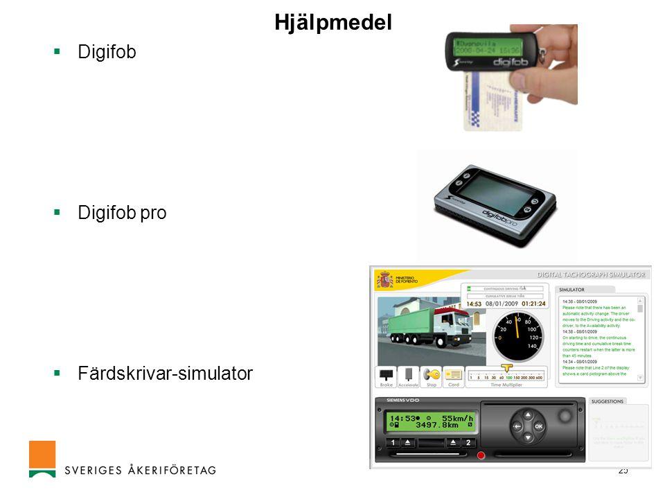 Hjälpmedel Digifob Digifob pro Färdskrivar-simulator