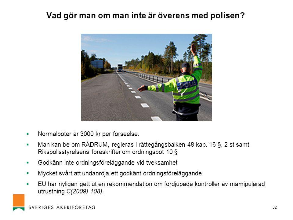 Vad gör man om man inte är överens med polisen