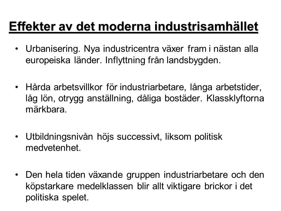Effekter av det moderna industrisamhället