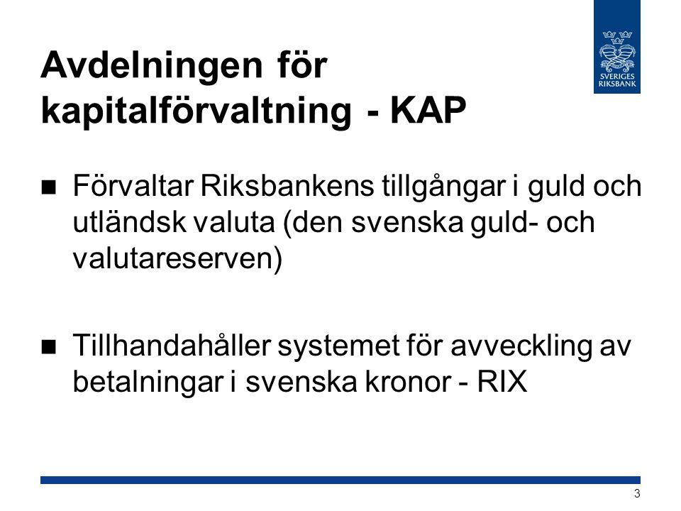 Avdelningen för kapitalförvaltning - KAP