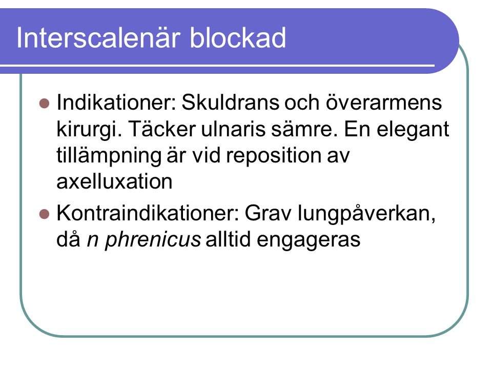 Interscalenär blockad