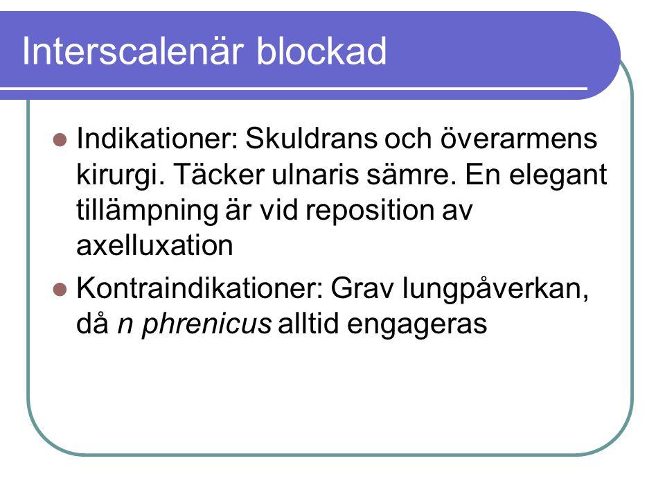 Interscalenär blockad