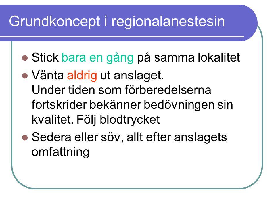 Grundkoncept i regionalanestesin