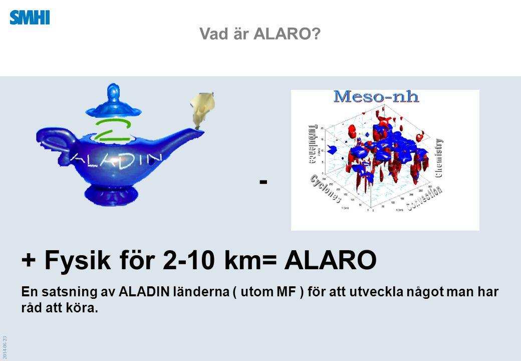 - + Fysik för 2-10 km= ALARO Vad är ALARO