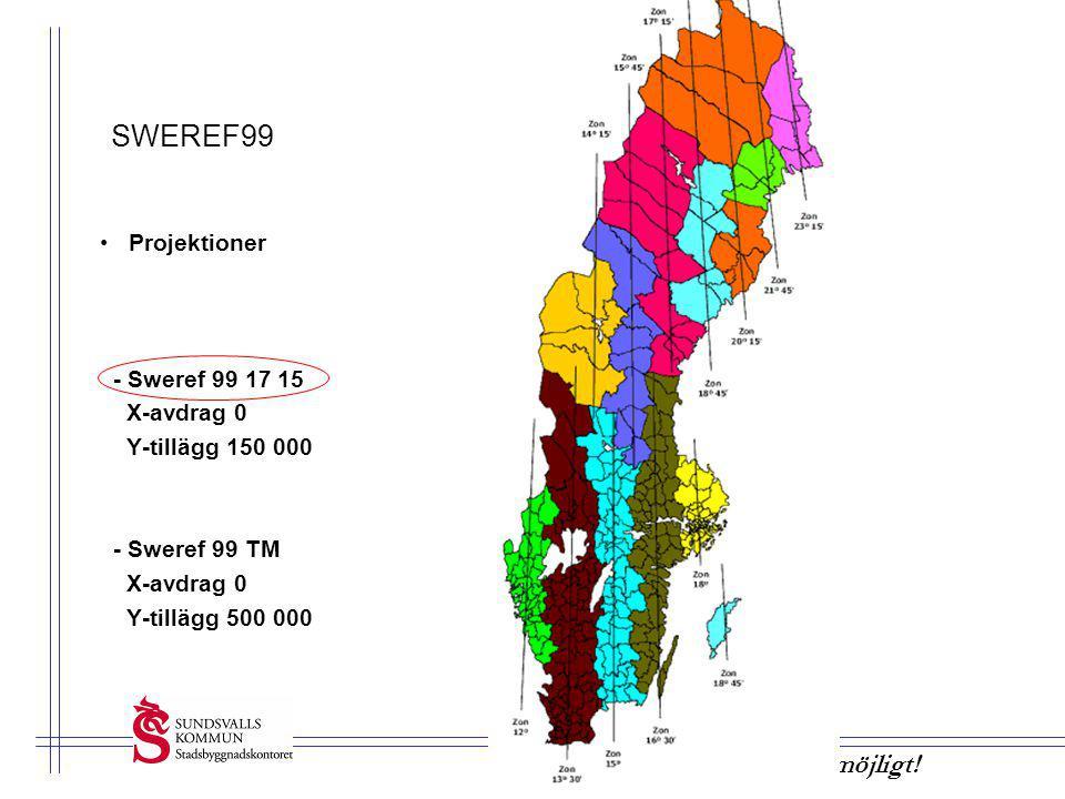 SWEREF99 Projektioner - Sweref 99 17 15 X-avdrag 0 Y-tillägg 150 000