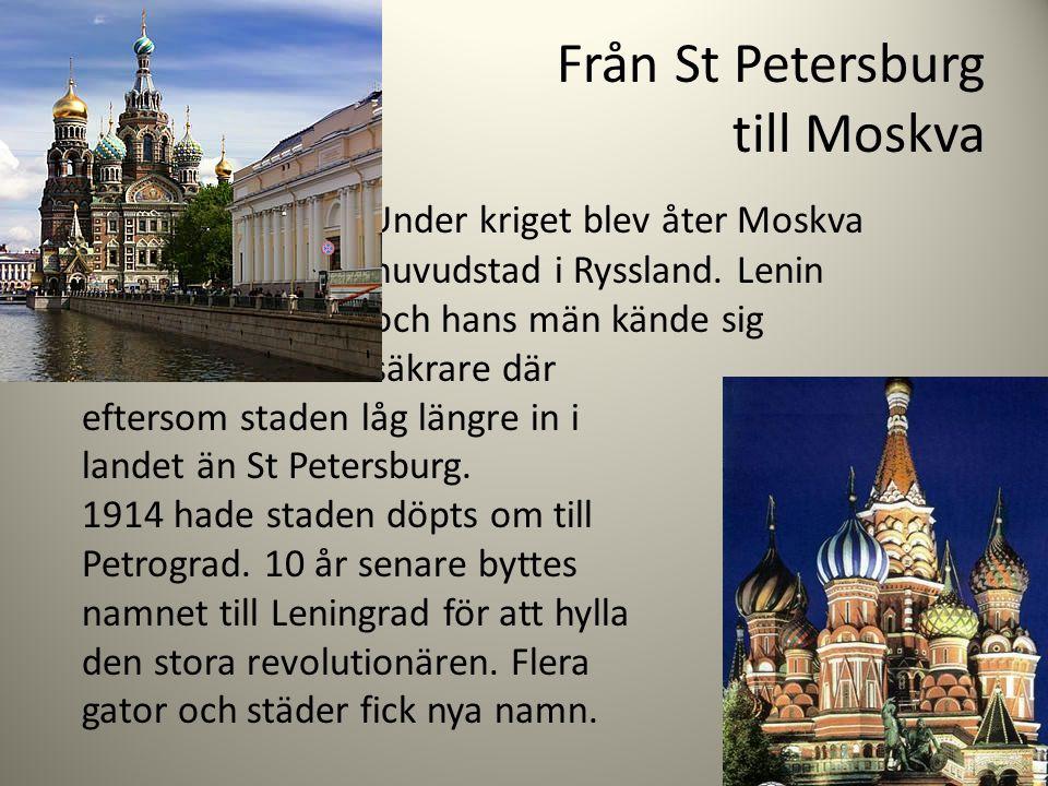 Från St Petersburg till Moskva
