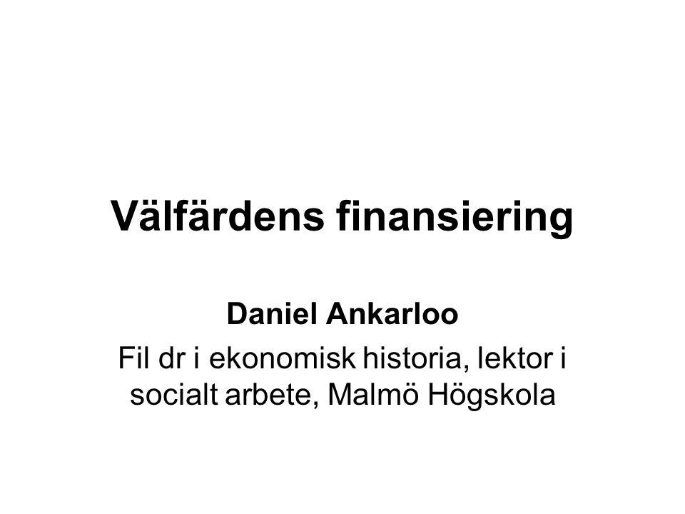 Välfärdens finansiering