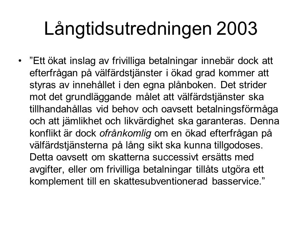 Långtidsutredningen 2003