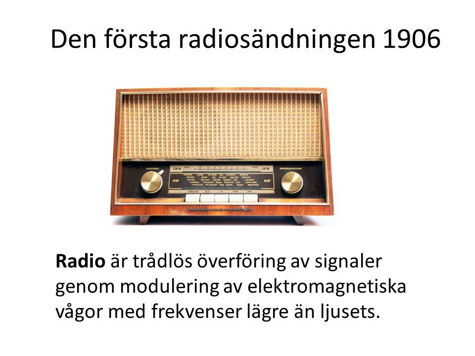 Den första radiosändningen 1906