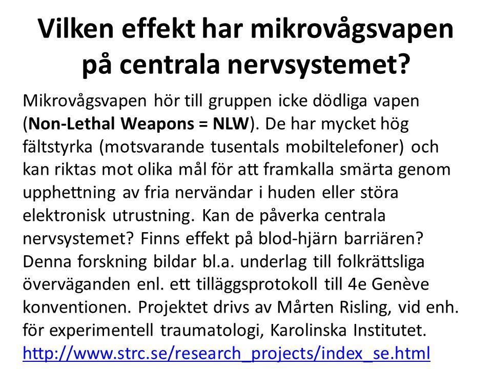 Vilken effekt har mikrovågsvapen på centrala nervsystemet