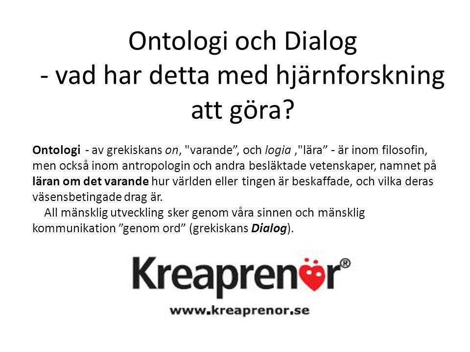 Ontologi och Dialog - vad har detta med hjärnforskning att göra