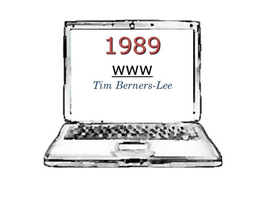 1989 www Tim Berners-Lee