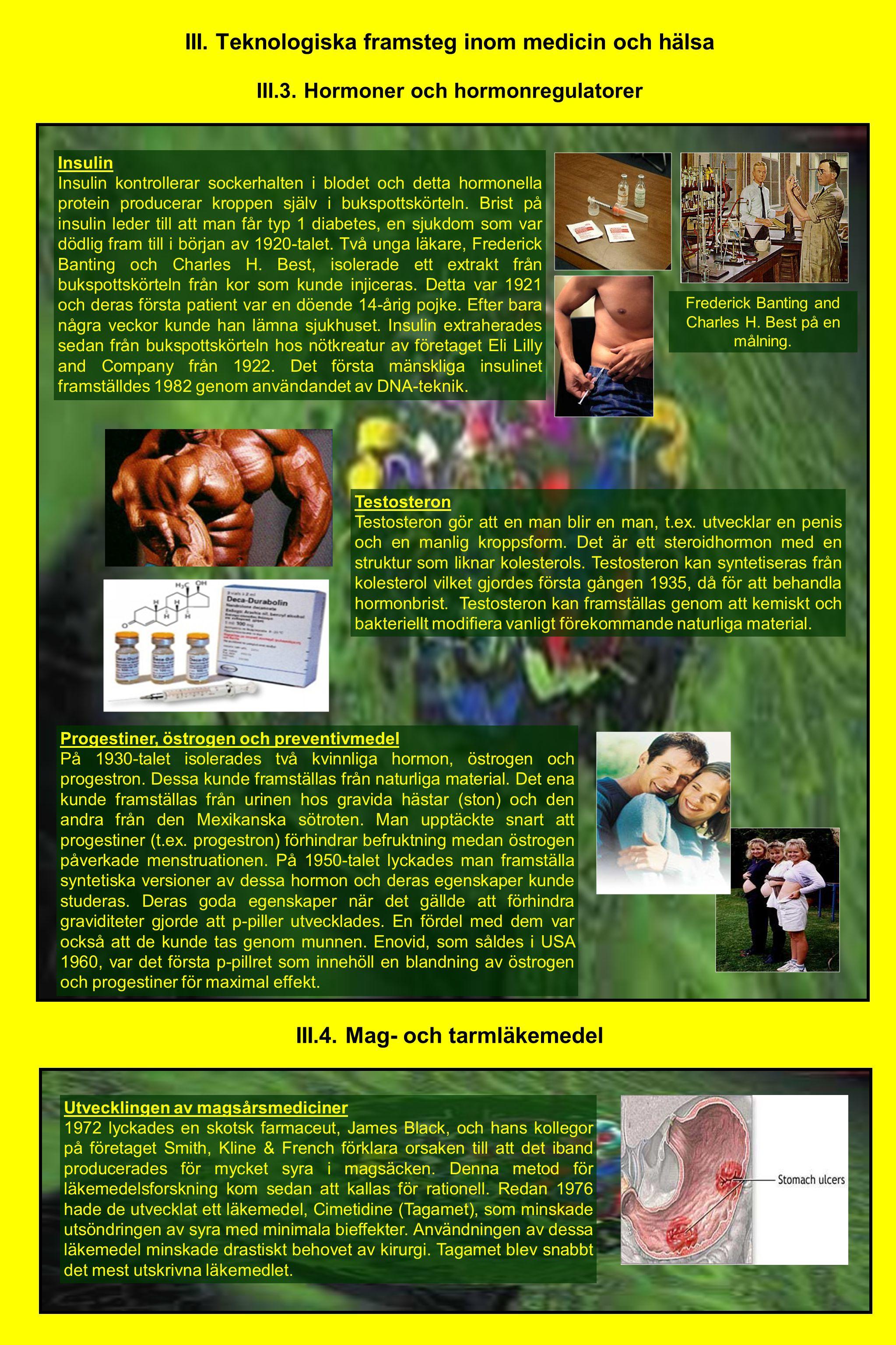 III. Teknologiska framsteg inom medicin och hälsa