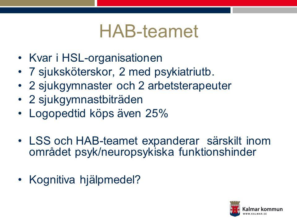 HAB-teamet Kvar i HSL-organisationen