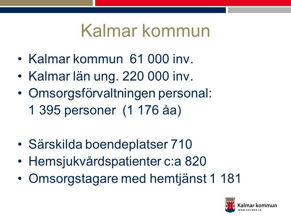 Kalmar kommun Kalmar kommun 61 000 inv. Kalmar län ung. 220 000 inv.