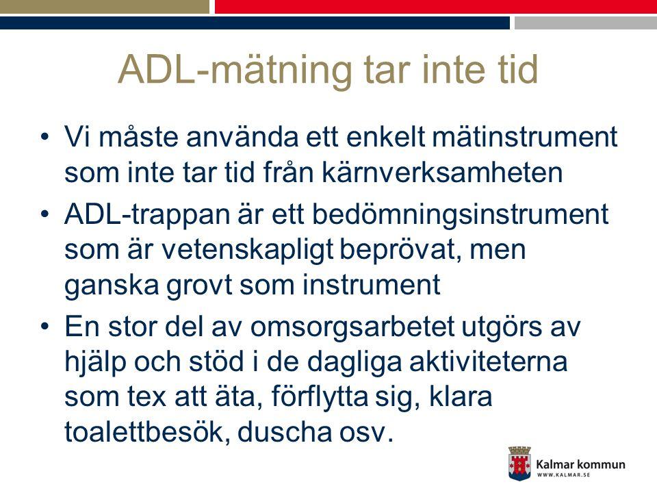 ADL-mätning tar inte tid