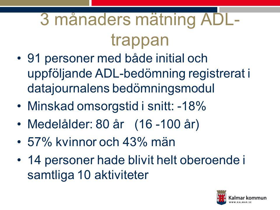 3 månaders mätning ADL-trappan