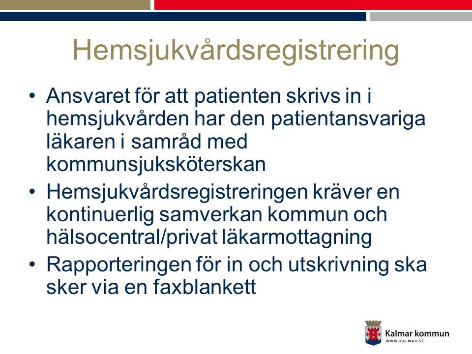 Hemsjukvårdsregistrering