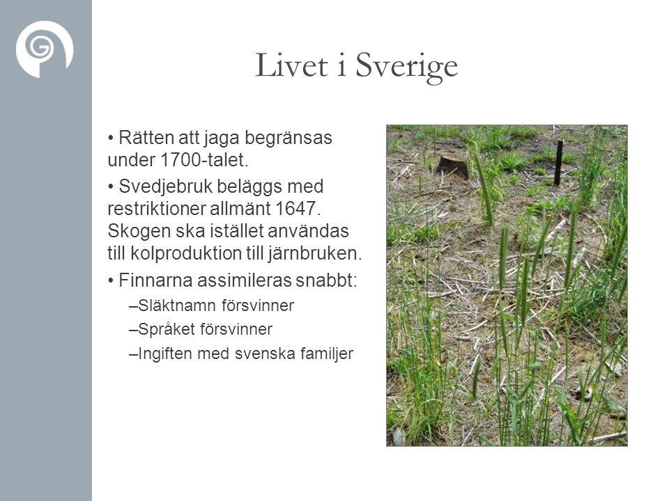 Livet i Sverige Rätten att jaga begränsas under 1700-talet.