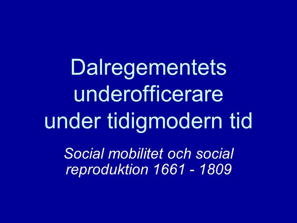 Dalregementets underofficerare under tidigmodern tid