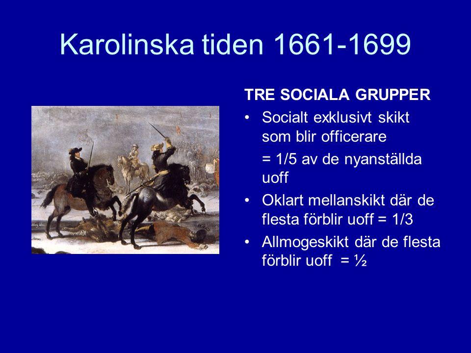 Karolinska tiden 1661-1699 TRE SOCIALA GRUPPER