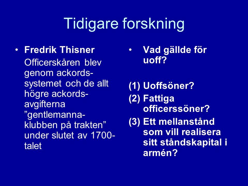 Tidigare forskning Fredrik Thisner