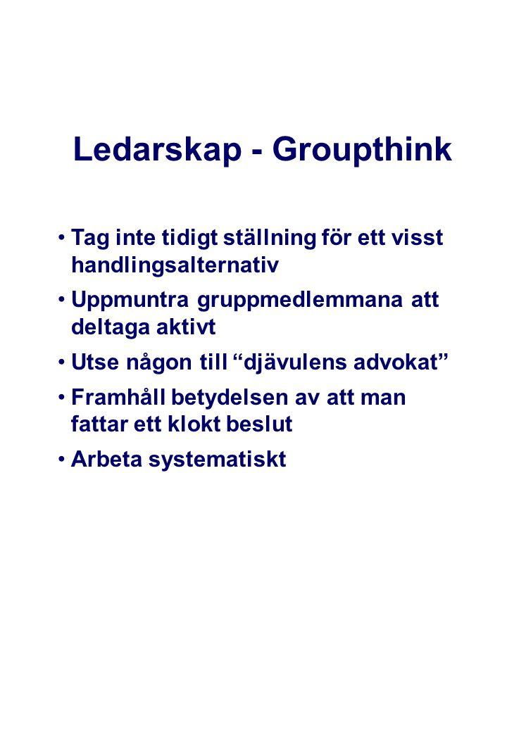 Ledarskap - Groupthink