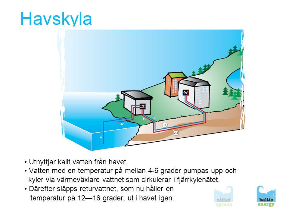 Havskyla • Utnyttjar kallt vatten från havet.