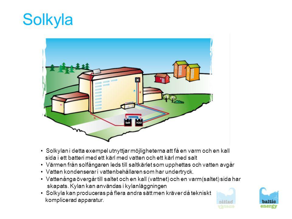 Solkyla • Solkylan i detta exempel utnyttjar möjligheterna att få en varm och en kall.