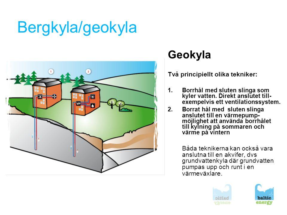Bergkyla/geokyla Geokyla Två principiellt olika tekniker: