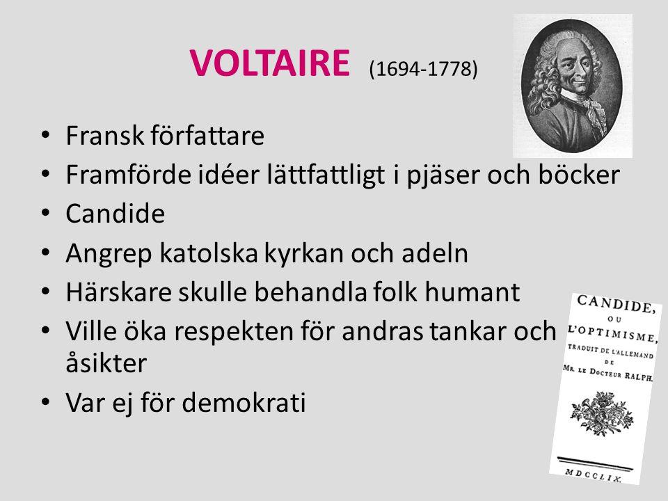 VOLTAIRE (1694-1778) Fransk författare