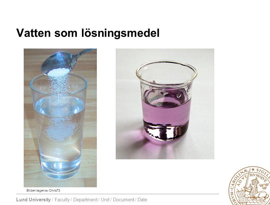 Vatten som lösningsmedel