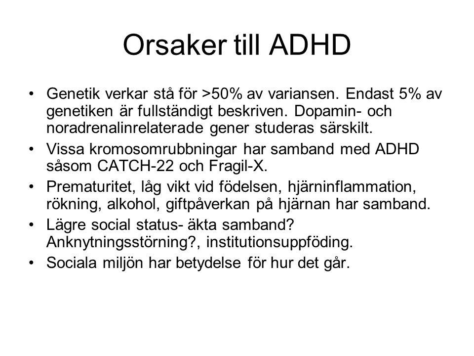 Orsaker till ADHD