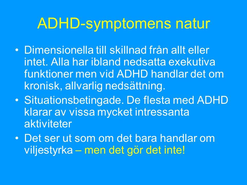 ADHD-symptomens natur
