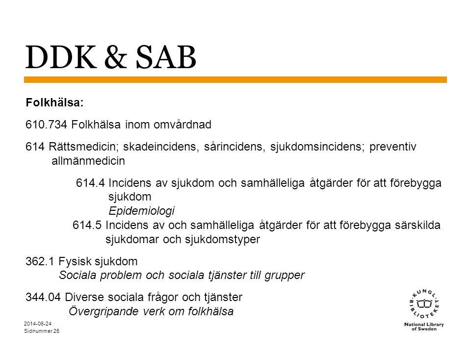 DDK & SAB Folkhälsa: 610.734 Folkhälsa inom omvårdnad