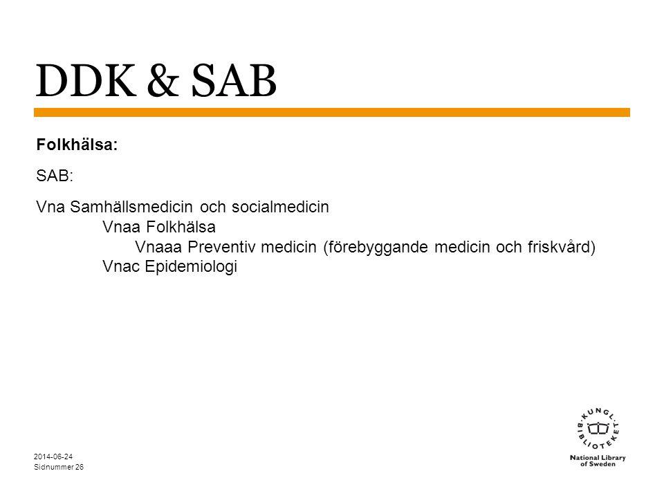 DDK & SAB Folkhälsa: SAB:
