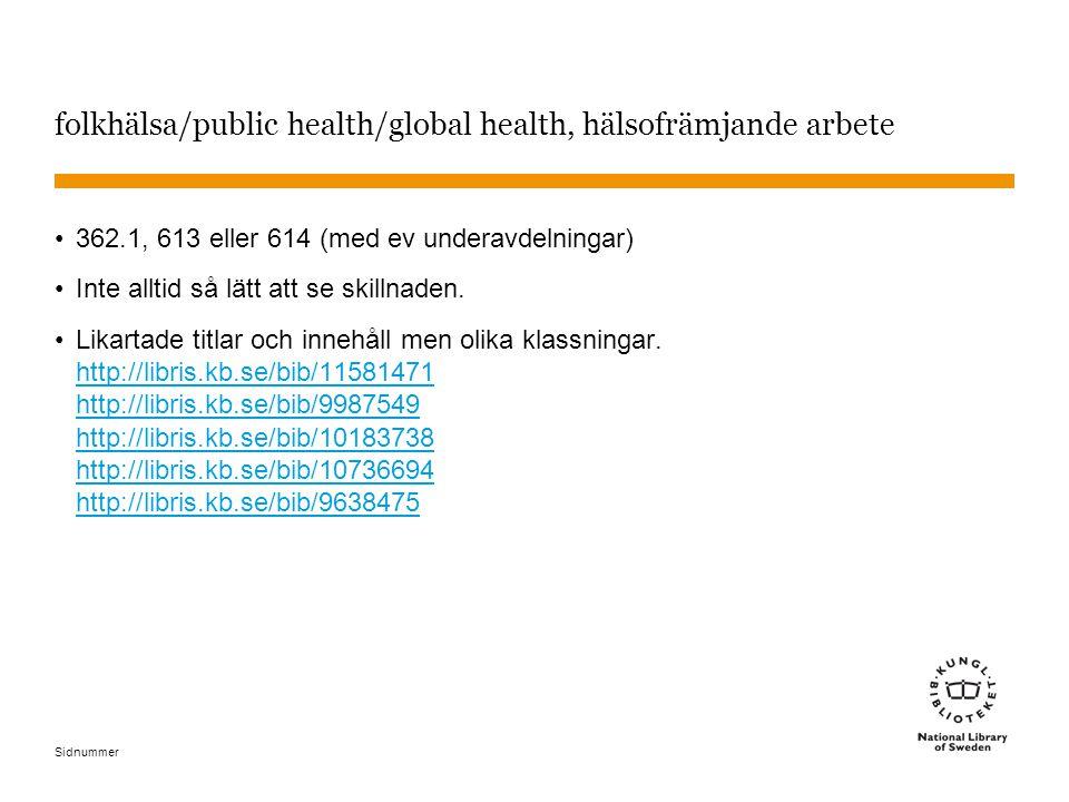 folkhälsa/public health/global health, hälsofrämjande arbete