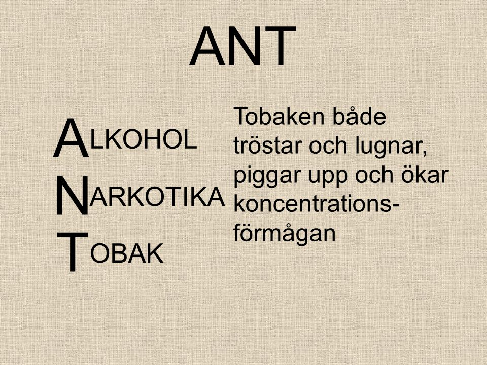 ANT A N T LKOHOL ARKOTIKA OBAK