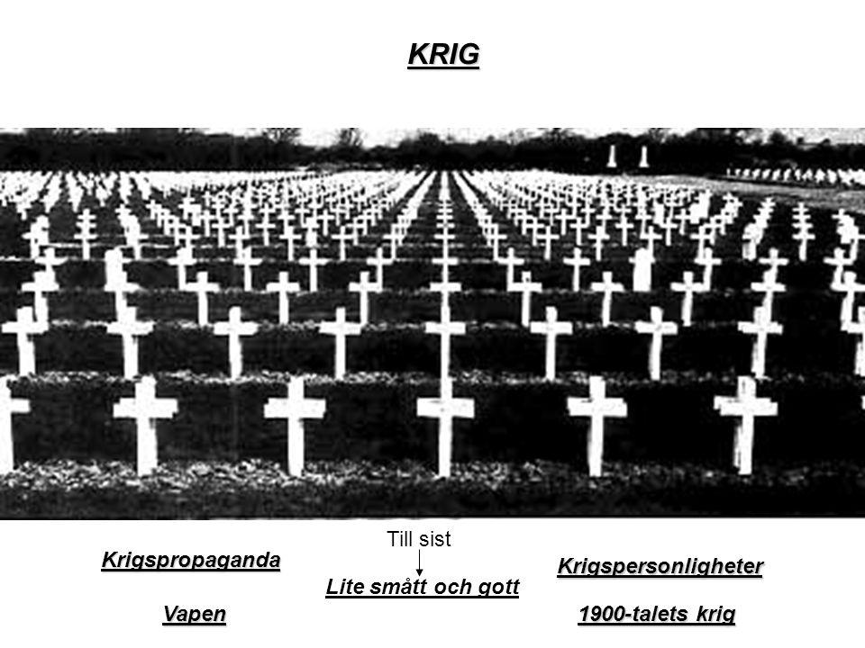 KRIG Vapen 1900-talets krig Krigspersonligheter Krigspropaganda