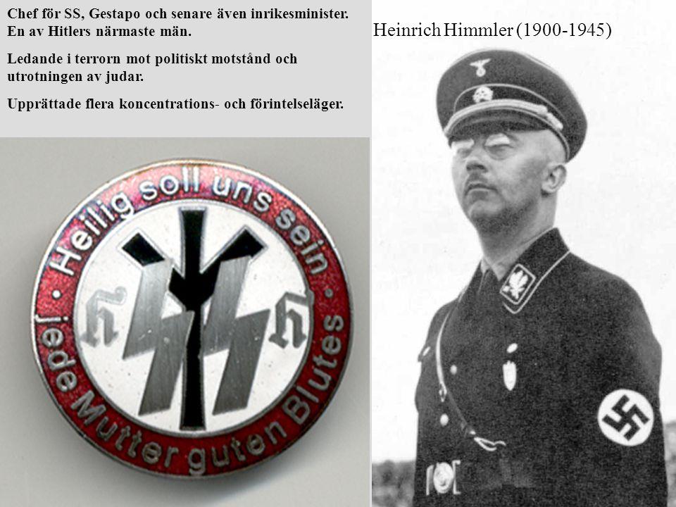 Chef för SS, Gestapo och senare även inrikesminister