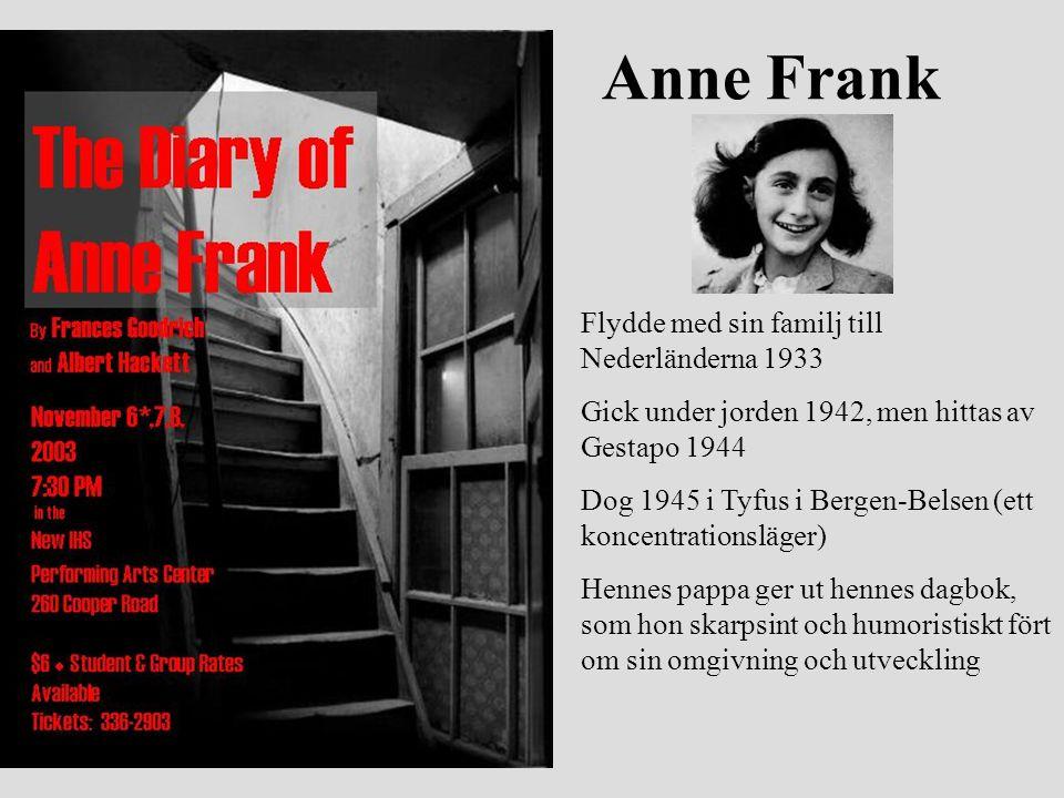 Anne Frank Flydde med sin familj till Nederländerna 1933