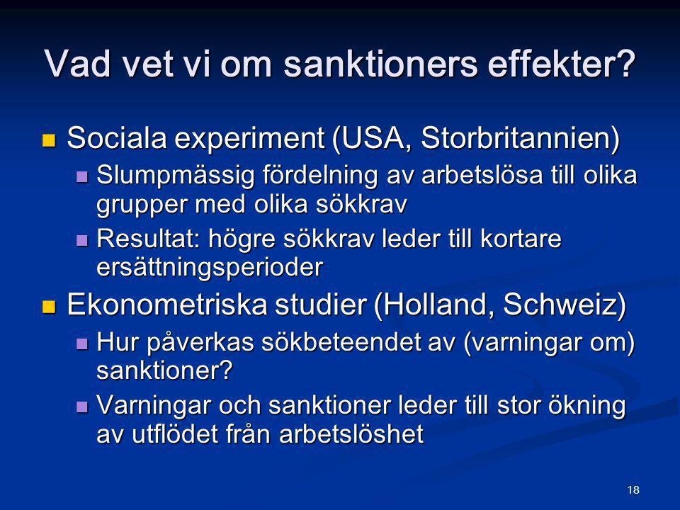 Vad vet vi om sanktioners effekter