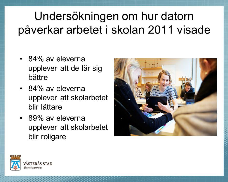 Undersökningen om hur datorn påverkar arbetet i skolan 2011 visade