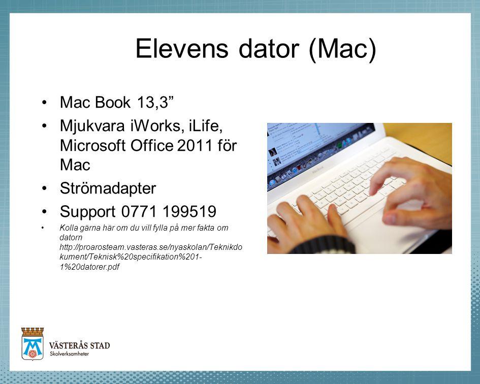 Elevens dator (Mac) Mac Book 13,3