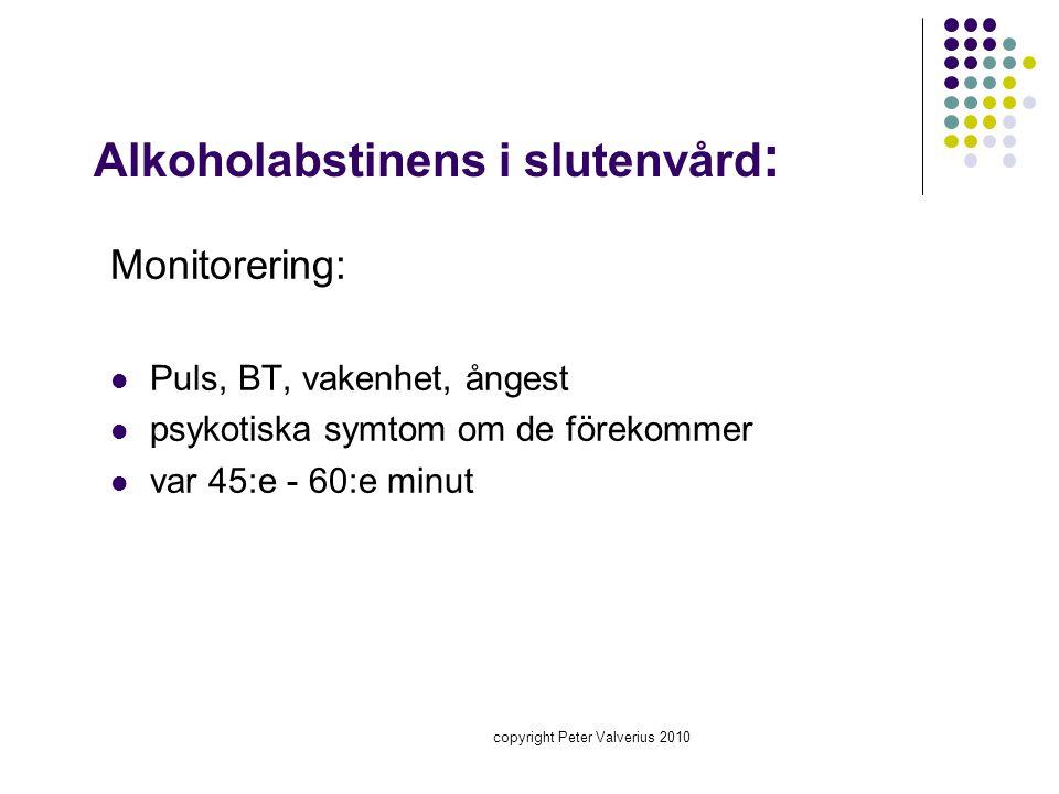 Alkoholabstinens i slutenvård: